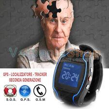 OROLOGIO CELLULARE GSM SOS GPS LOCALIZZATORE SATELLITARE PER BAMBINI ALZHEIMER