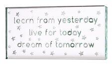 Spaceform Landscape Glass Token Learn Live Dream Positive Present Gift Box 1758