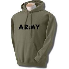 US ARMY HOODED HOODIE HOODY SWEATSHIRT GREY