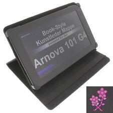 Case Rhinestone Flower For Arnova 101 G4 Tablet Book Style Protective Black