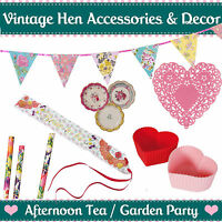 VINTAGE HEN PARTY ACCESSORIES AND DECOR - Afternoon Tea Garden Party Decorations