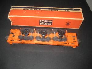 LIONEL POST WAR ORANGE TRUCK CAR # #6362  BOX C-7