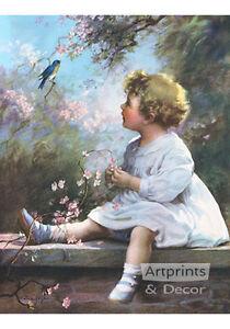 Song of the Bluebird by Zula Kenyon (Art Print of Vintage Art) ( 11 x 14 )