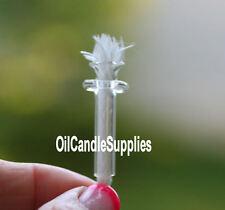 5 Oil Lamp Mason Jar Rock Candle Glass Wick Holder & Fiberglass Wick
