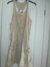 Lightweight cotton beachwear cover up mini dress size medium bnwt