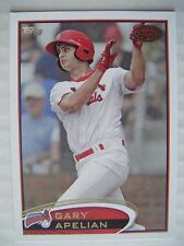 GARY APELIAN 2012 Topps Pro Debut baseball card JOHNSON CITY CARDINALS SANTA ANA