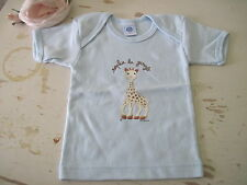 New French Light Blue Baby Sophie the Giraffe T-Shirt size 6-12 Months