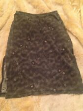 CHARLOTTE RUSSE GRAY SLIT SKIRT PENCIL SKIRT GREY FLORAL DETAIL SIZE S SMALL