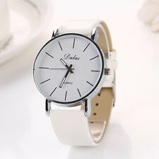 DALAS FASHION DRESS WATCH Womens Ladies Faux Leather Gold Silver Bling Quartz 43