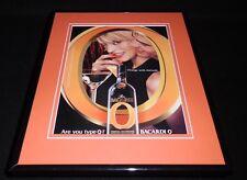 2001 Bacardi Orange Type O Framed 11x14 ORIGINAL Vintage Advertisement