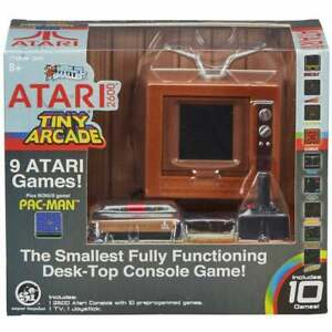 Tiny Arcade Atari 2600 Fully Functioning Desktop Game 10 Games inc Pong Pac-Man