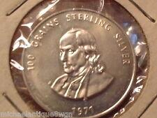 1971 Ben Franklin  Mason BU Sterling 100 G Coin