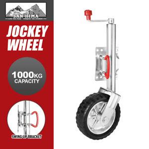 """Jockey Wheel 10"""" Inch Swing Up Rubber Wheel 1000kg Caravan Boat Trailer"""