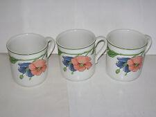 "Villeroy & Boch anno 1748 GERMANY AMAPOLA 3.5"" Coffee Tea Mug Cup Lot of 3 RARE"