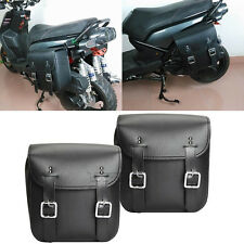 2x PU Leather Side Saddle Bag Fit Harley XL Sportster 1200 Custom Motorcycle