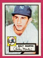 1952 Topps Reprint # 175 Billy Martin - New York Yankees
