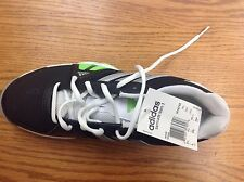 Adidas Barricade Team 3 Tennis Shoes NEW! Size 8.5 Black and Green + white Trim