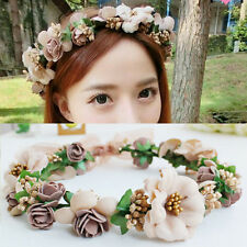 New Floral Flower Party Wedding Crown Hair Wreaths Headband Hair Band Garland LD