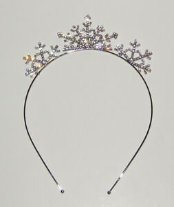 Headband Snowflakes Crystals New Silver Tone Sparkly Jewelry Hair Accessory