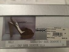 Brian Atwood Dolly Sandal Calf Suede Heels, size 39
