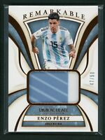 2020 ENZO PEREZ 47/50 JERSEY PATCH PANINI IMMACULATE COLLECTION REMARKABLE