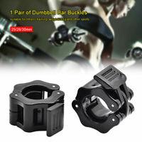 2X 25mm Olympic Hantel Langhantel Bar Lock Gewichtshalsbänder Bodybuilding NEU!