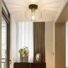 DLLT Farmhouse Semi Flush Mount Classic Glass Pendant Ceiling Light EL0510