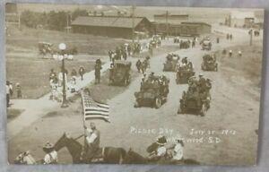 1912 Postcard RPPC REAL PHOTO Picnic Day Whitewood South Dakota