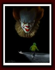 NEW Signed IT Movie Pennywise The Clown HORROR Bill Skarsgård Stephen King PRINT