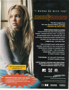 Mandy Moore 2000 Ad- I Wanna Be With You   advertisement