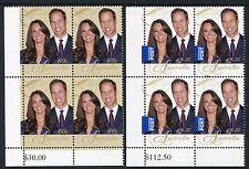 2011 William & Kate Royal Engagement - MUH Bottom Left Corner Blocks