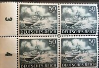 Germany (Third Reich) 1943 block of 4 - Mi 842-Sc B229- MNH