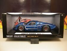 CARROLL SHELBY COLLECTIBLES 1:18 SCALE DIECAST METAL BLUE 1967 FORD MK IV
