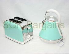 Juego de cocina que empareja Verde 1.8L Hervidor eléctrico CORDLES 2 Rebanada Tostadora Bagel SF