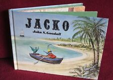 JACKO ~ John S. GOODALL.   1981 UK Hb.  Jacko monkey runs away.  HERE  in MELB!