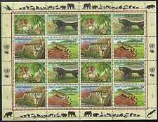 Timbres Animaux Nations Unies Genève F 447/50 ** année 2002 lot 4155