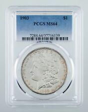 1903 $1 Silver Morgan Dollar Graded by PCGS as MS-64! Great Morgan!
