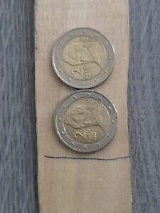 Pièce rare De 2 Euros  Autruche