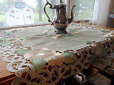 "Blooming TERRA FLORA Embroidered 33"" Square Table Topper"