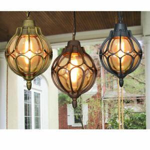 Garden Chandelier Lighting Hallway Ceiling Light Ourdoor Waterproof Pendant Lamp