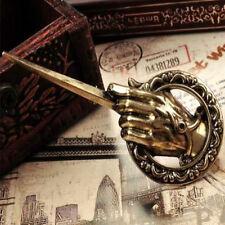 Bronze Hand Of The King Brooch Game of Thrones Inspired Pin In Black Velvet Bag