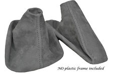 GREY STITCH MID GREY SUEDE MANUAL GAITER SET FITS BMW 5 SERIES E39 1996-2004