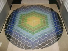 "Handpainted Rug Canvas by Smyrna Laine 59"" 3.5 sts to the inch close out"