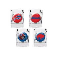 Buffalo Bills Shot Glass Set NFL 4 Glasses 2 oz Gift Player Retro