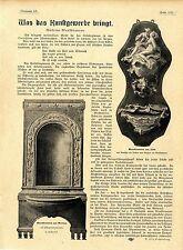 Dr.Felix Poppenberg Kunstgewerbe Moderne Wandbrunnen Fam.v. Heider H. Obrist1901