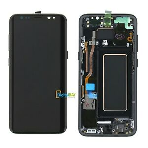Samsung GH97-20457A Lcd Touch Display per Galaxy S8 G950 Nero Black Service Pack
