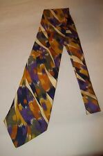 VINTAGE MISSONI Abstract Multi-color Print Hand made 100% Silk Neck Tie  RARE! e93a24c4d