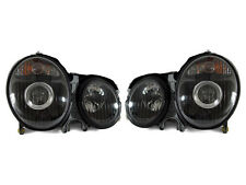 DEPO 96-99 Mercedes Benz W210 E Class Projector Black Housing Headlight Pair DOT