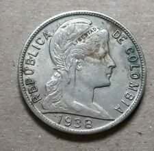 Different Old Colombia -5 Centavo Coins 1938- South America !