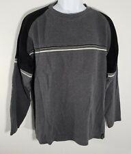 Point Zero Mens Black Gray White Stripe Sweater  XL